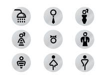 办公室洗手间门标志 免版税库存照片