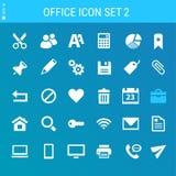办公室2象集合 多彩多姿的平的按钮 库存图片