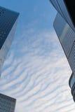 办公楼上部视图  图库摄影