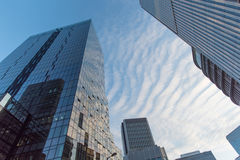 办公楼上部视图  免版税库存图片