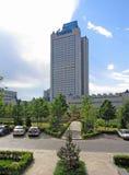 办公楼俄罗斯天然气工业股份公司在莫斯科 库存照片