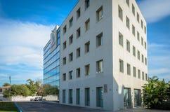 办公楼在圣佩德罗火山 免版税图库摄影
