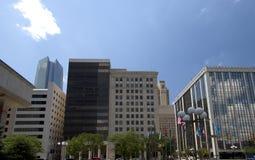办公楼在现代城市俄克拉何马 免版税库存图片