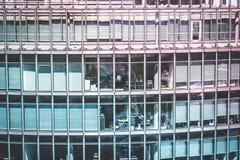 办公楼外部,企业概念/人们在工作 免版税库存照片