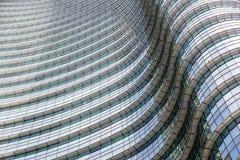 办公楼现代蓝色玻璃墙 图库摄影