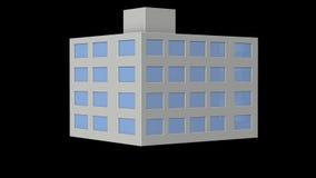 办公楼的微型模型 股票录像