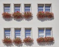 办公楼的Windows, Munchen,德国 免版税库存照片