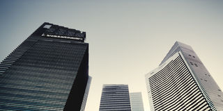 办公楼都市风景设计结构概念 库存照片