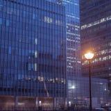 办公楼金丝雀码头,伦敦 免版税库存照片
