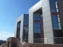 办公楼,入口 免版税库存照片