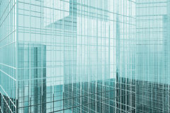 办公楼,反对天空,企业处所的摩天大楼 库存照片