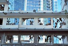 办公楼PHN的爆破 免版税库存照片