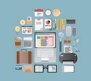 办公用品和事务 库存例证