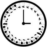办工室职员平均工作日日程表 库存例证