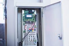 功率分配有过载电流保护的委员会电流开关 免版税库存图片