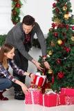 加上圣诞节礼物 免版税库存照片