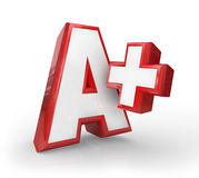 A+加上巨大成绩比分反馈上面规定值 图库摄影