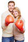 加上红色拳击手套 图库摄影