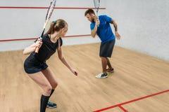 加上软式墙网球,室内训练俱乐部 免版税库存图片