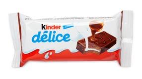 更加亲切的Delice巧克力糖酒吧 免版税库存照片