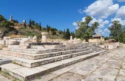 更加伟大的Propylaia,古老Eleusis, Attica,希腊 免版税库存图片