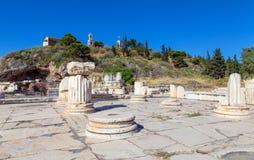 更加伟大的Propylaia,古老Eleusis, Attica,希腊 免版税库存照片