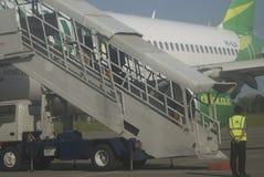 加倍在燃料获取的运输预算的印度尼西亚 免版税图库摄影