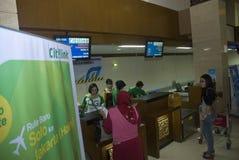 加倍在燃料获取的运输预算的印度尼西亚 免版税库存图片