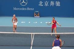 加倍s小组网球妇女 免版税库存照片
