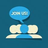 加入我们社会媒介小组 免版税库存照片