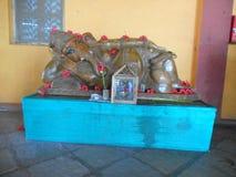 加内什阁下雕象Saguna的Baug 免版税库存图片