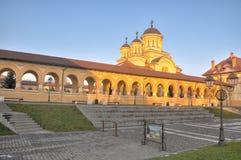 加冕大教堂,晨曲Iulia堡垒 库存图片