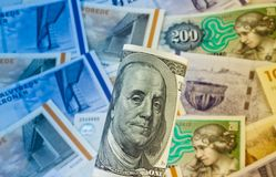 加冠货币丹麦丹麦 免版税图库摄影