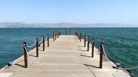 加利利海视图在Israe 图库摄影
