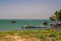 加利利海,以色列的海岸 免版税库存图片
