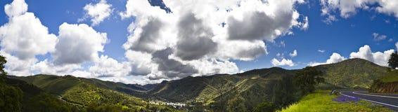 加利福尼亚中央全景 库存照片
