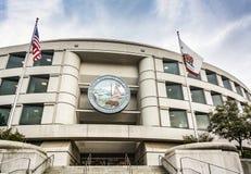 加利福尼亚公用事业委员会的大门在旧金山总部设大厦 库存照片