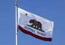 加利福尼亚共和国状态旗子 库存图片