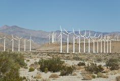 加利福尼亚农厂南部的涡轮风 图库摄影