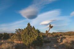 加利福尼亚双突透镜的云彩风景 库存图片