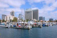加利福尼亚地亚哥海滨广场圣 免版税库存照片