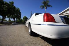 加利福尼亚大型高级轿车白色 库存照片