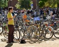 加利福尼亚大学戴维斯分校野餐天游行 免版税图库摄影