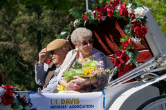 加利福尼亚大学戴维斯分校野餐天游行 免版税库存照片