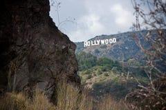 加利福尼亚好莱坞符号 库存照片