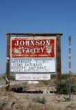 加利福尼亚宅基约翰逊符号谷欢迎 库存图片