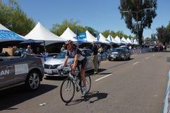 加利福尼亚安迪Schleck 2013游览  库存照片