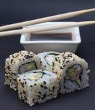 加利福尼亚寿司卷 免版税库存图片