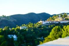 加利福尼亚小山看法  免版税库存图片