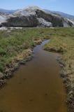 加利福尼亚小河死亡盐谷 免版税库存图片